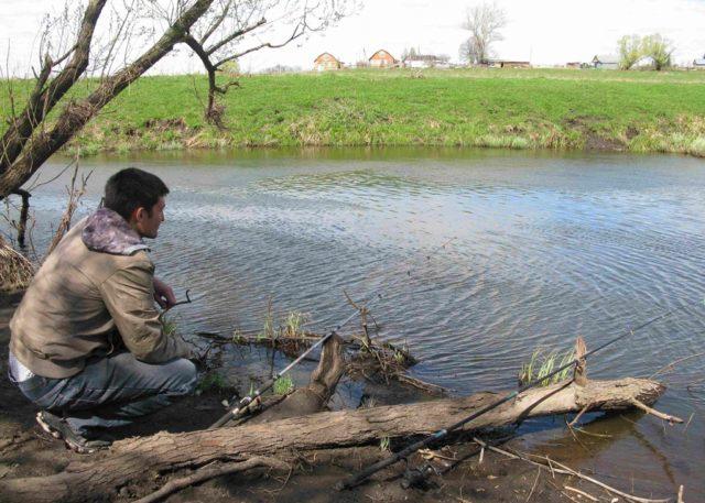 При наличии стремительного течения рыбалка сильно затрудняется, поскольку наживку все равно сносит быстрым течением