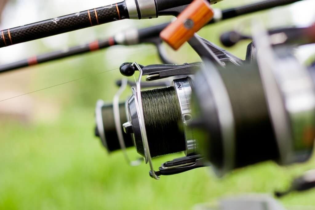 Удилище и катушка для ловли рыбы