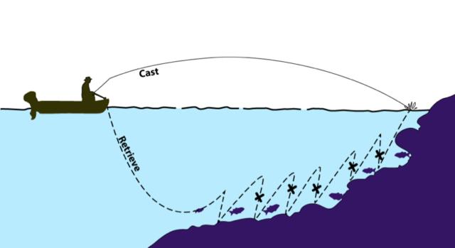 Твичинг характеризуется более тонкой и менее резкой проводкой, нежели джеркинг, но обе проводки основаны на горизонтальных движениях удилища