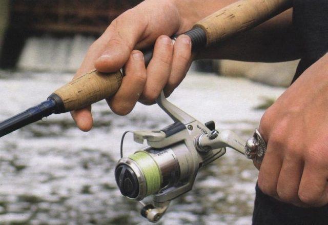 Этот способ годится для лова на не больших реках, когда не имеет смысла делать дальние забросы