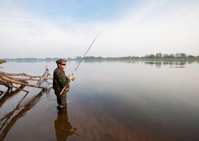 Глубокие участки реки с сильным и широким течением указывают на места обитания жереха